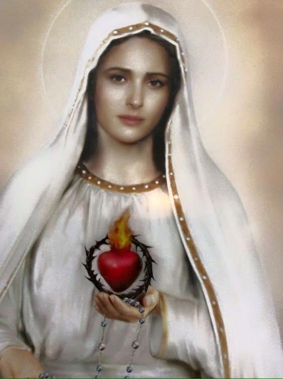 Znalezione obrazy dla zapytania Serce Niepokalanej Maryi obrazy